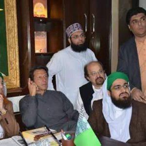 Yousuf Saleem with Imran Khan